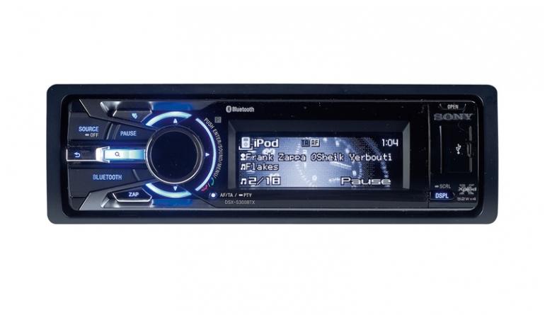 1-DIN-Autoradios Sony DSX-S300BTX im Test, Bild 1