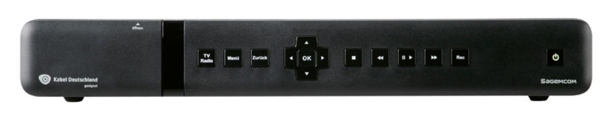 test kabel receiver mit festplatte sagemcom rci88 320kdg sehr gut. Black Bedroom Furniture Sets. Home Design Ideas